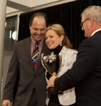 Dr. Kells, DC Receiving USA Wrestling Woman of the Year Award